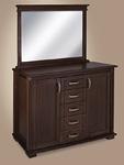 Трапезен шкаф 812 МДФ фурнир дъб + Огледало 820