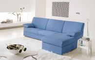 Син модерен италиански диван